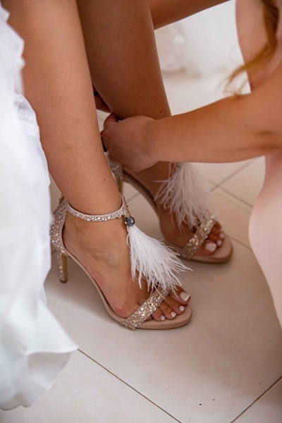 Lou bridal sandals Passiion